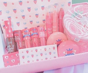 cosmetics, pink, and makeup image