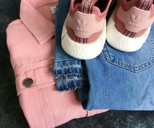 adidas, pink, and outfit image