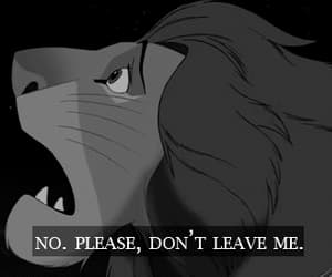 lion king, please, and leave image