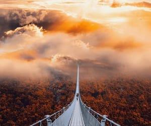 bridge, clouds, and nature image