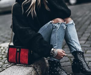 fashion, street style, and boots image
