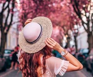 cherry blossom, photo, and fashion image