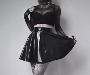 alternative, latex, and gothic girl image