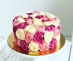 cake, diy, and flowers image