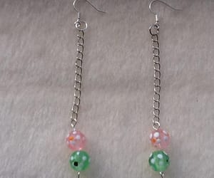 wedding earrings, polka dot earrings, and lampwork earrings image