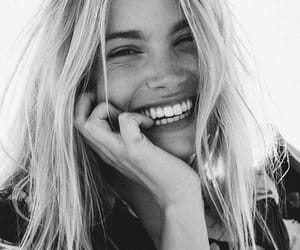 smile, girl, and blonde image