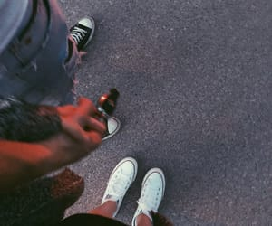 blackandwhite, convers, and couple image