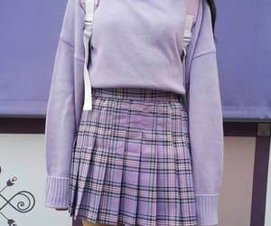 purple, fashion, and aesthetic image