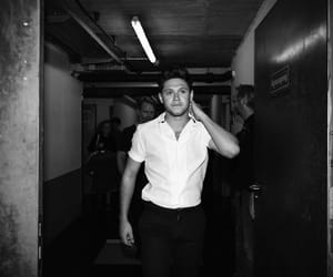 niall horan and black and white image