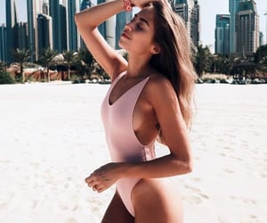 beach, girl, and inspiration image