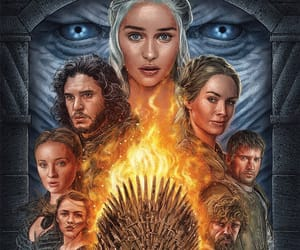 daenerys targaryen, game ot thrones, and jon snow image