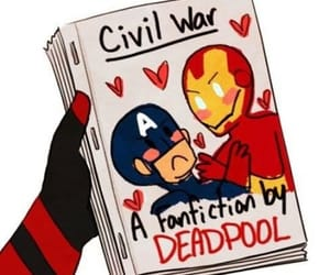 deadpool, Marvel, and fanfiction image