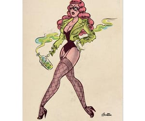 etsy, pinup girl, and vintage illustration image