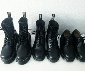 aesthetic, black, and boots image