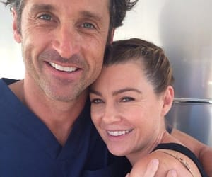 grey's anatomy, patrick dempsey, and ellen pompeo image