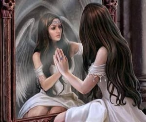 angel, mirror, and fantasy image
