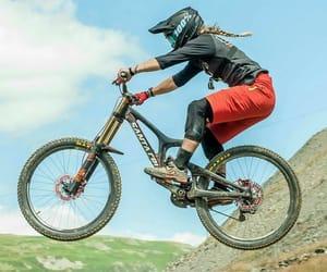 bike, ride, and downhill image