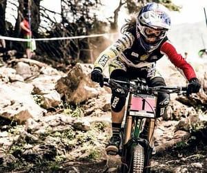 bike, downhill, and girl image