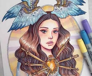 angel, blue, and clothes image