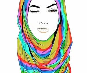 girl, hijab, and lesbian image