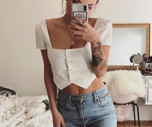 Tattoos, outfit, and pretty image