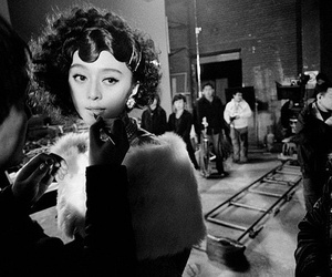 black and white, movie, and shooting image