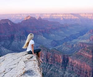 girl, travel, and landscape image