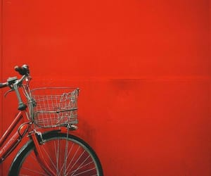 red, aesthetic, and bike image