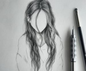 art, girl, and draw image