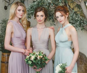 bridesmaids, bridesmaid dresses, and custommade image