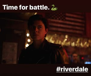 serpents, sweet pea, and riverdale image