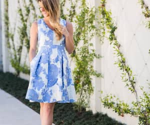 dress, floral, and wedding image