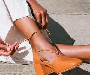 fashion, orange, and shoe image