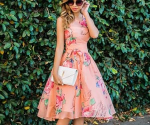 floral dress, mariage, and wedding look image