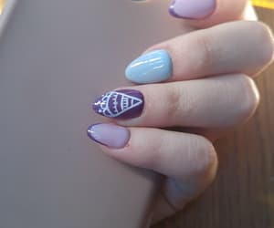 blue, nails, and violet image