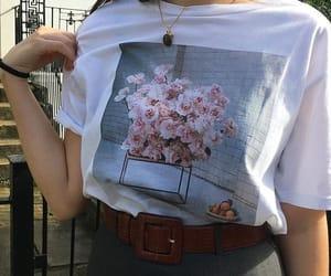 fashion, flowers, and korean fashion image