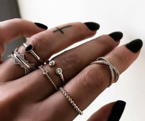 fashion, manicure, and rings image