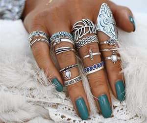 bague, bijoux, and bohemian image