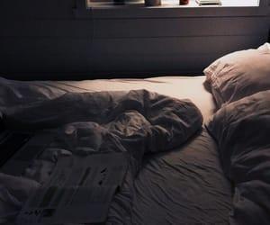 bed, hug, and noon image