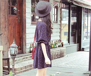 fashion, dress, and hat image