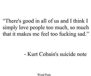 quotes, kurt cobain, and nirvana image