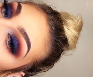 blue, eyeshadow, and make up image