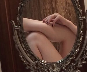 mirror, legs, and body image