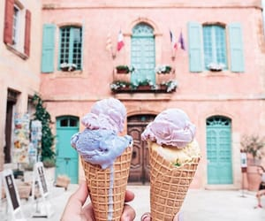 ice cream, summer, and theme image