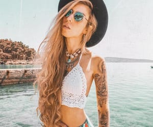 body, summer, and tattoo image