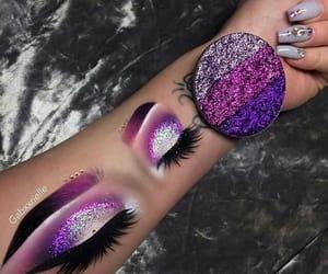 makeup, glitter, and art image