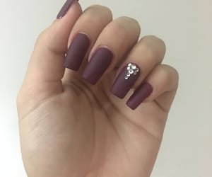 matte, nails, and uñas image