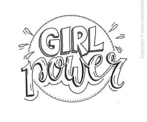 girl power, girl, and women image