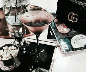 aesthetic, books, and champagne image