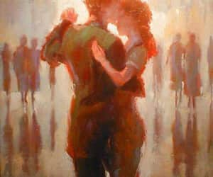 art, couple, and dancing image